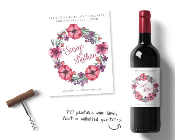 Personalised wedding wine labels - adding flair to your wedding table decor!