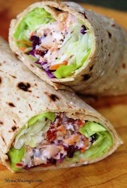 Cranberry Cherry Chicken Wrap - high protein, low fat. delicious!