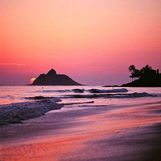 .. mokes ..: Pink Sunsets, Shades Of Purple, Natural Beautiful, 6 Months, Oahu Hawaii,  Sea-Coast, Purple Sunri, Sweet Home, Sunri Sunsets