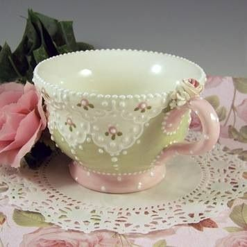 I know it's a tea cup, but it would be lovely with some of the tea pots I've pinned.