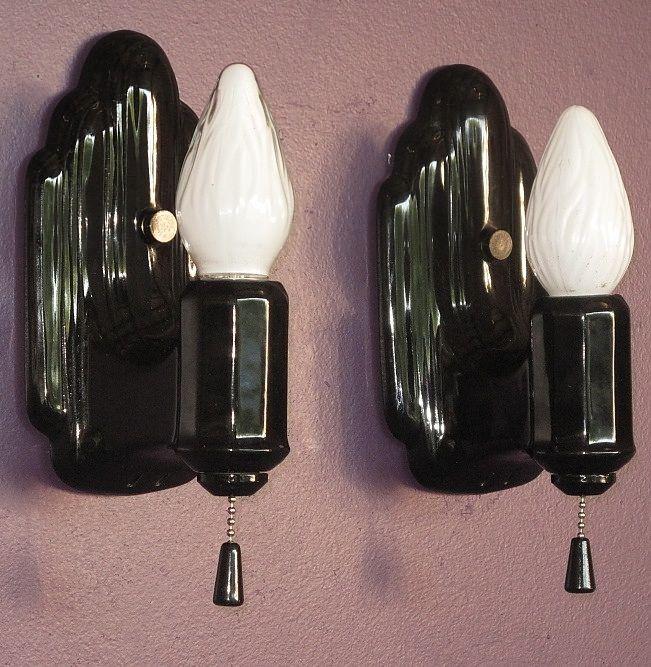 Black Porcelain Wall Sconces : 1000+ images about Vintage Bathroom Light Fixtures on Pinterest Wall lighting, Subway tile ...