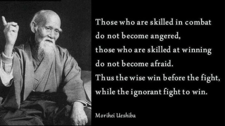 The Art of Peace -Morihei Ueshiba quote