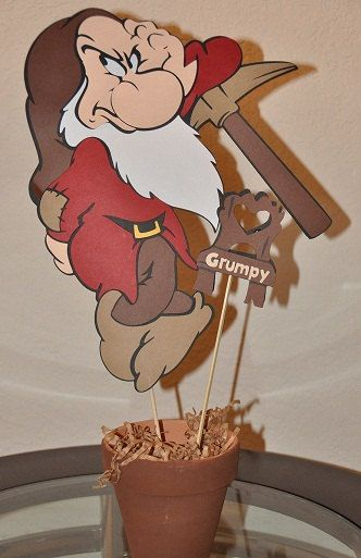 Snow White and the 7 Dwarfs GRUMPY Centerpiece by MailynCreations