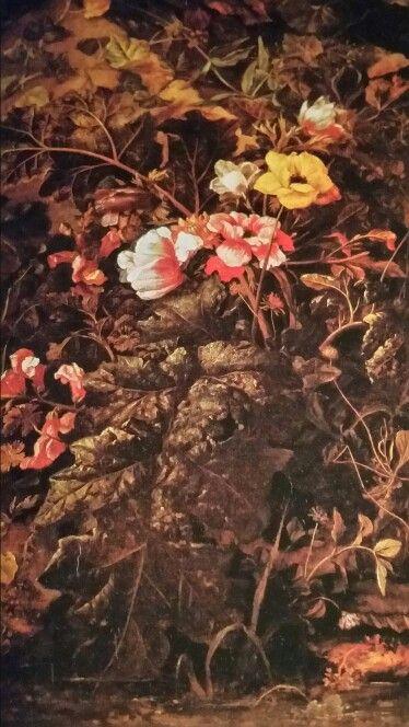 FOLLOWER OF OTTO MARSEUS VAN SCHRIECK called OTTONE MARCELLIS ( Nimega 1619 - Amsterdam 1678 ). SOTTOBOSCO CON PIANTE DI BASSO FUSTO, EDERA E GRUPPO FLOREALE. olio su tela. 61 × 47,6 cm.