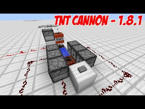 http://minecraftstream.com/minecraft-tutorials/minecraft-tutorial-tnt-cannon-1-8-1-ready/ - Minecraft Tutorial - TNT Cannon (1.8.1 Ready) Minecraft tutorial for how to build a TNT Cannon that can shoot a block of charged TNT over 80 blocks before exploding. Made in Minecraft 1.8.1 on PC. May or may NOT work on Xbox and Playstation. Super Cannon (1.7.9): http://youtu.be/bTGsxf2SlLg Other Tutorials:...