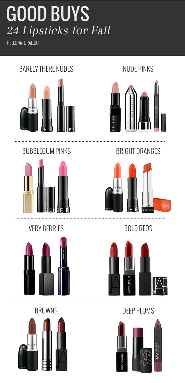 Whether you opt for a bold red lip or a subtle and soft pink, we've found 24 lipsticks for fall in 8 beautiful shades.