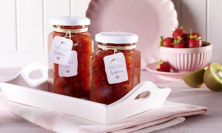 Erdbeer-Kiwi-Konfitüre  Rezept   Dr. Oetker