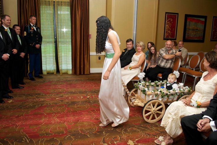 Large Flower Girl Wedding Wagon - Unfinshed by Miniwagons on Etsy https://www.etsy.com/listing/109529593/large-flower-girl-wedding-wagon