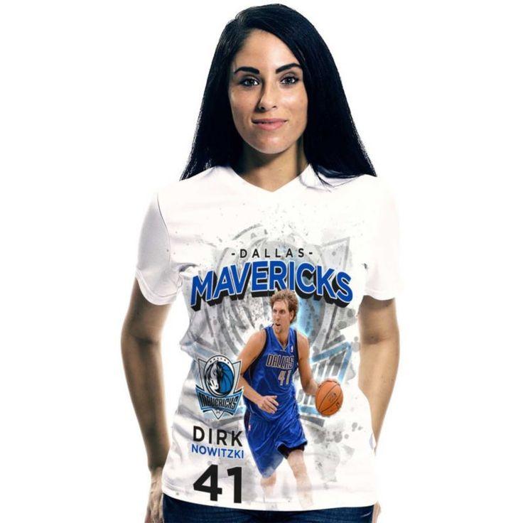 Levelwear Women's Dallas Mavericks Dirk Nowitzki Center Court T-Shirt, Size: Medium, Team