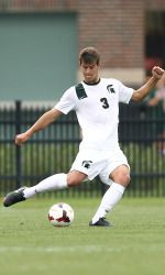 Former Michigan State men's soccer defender Kevin Cope was selected 25th in the 2014 MLS SuperDraft to the Philadelphia Union on Thursday. He is the eighth player in MSU history to be drafted into the MLS and the second-highest overall pick.