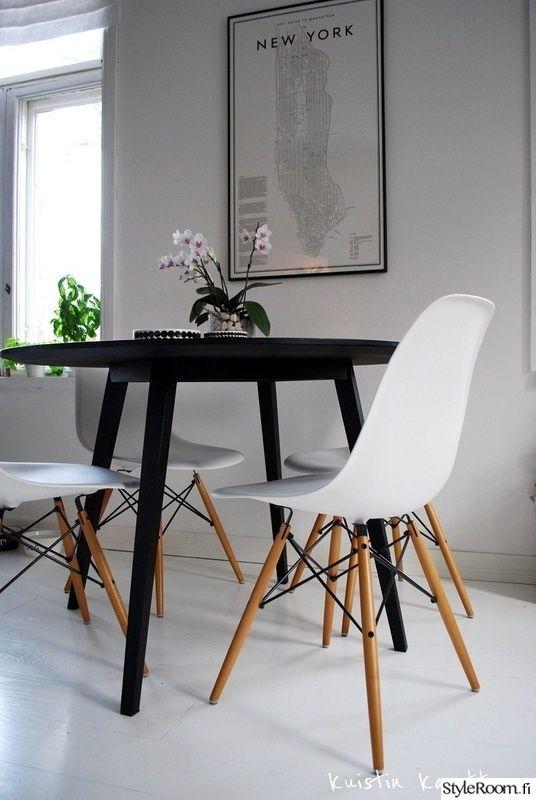 ruokailuryhmä,design,mustavalkoinen,koriste-esineet,ruokapöytä