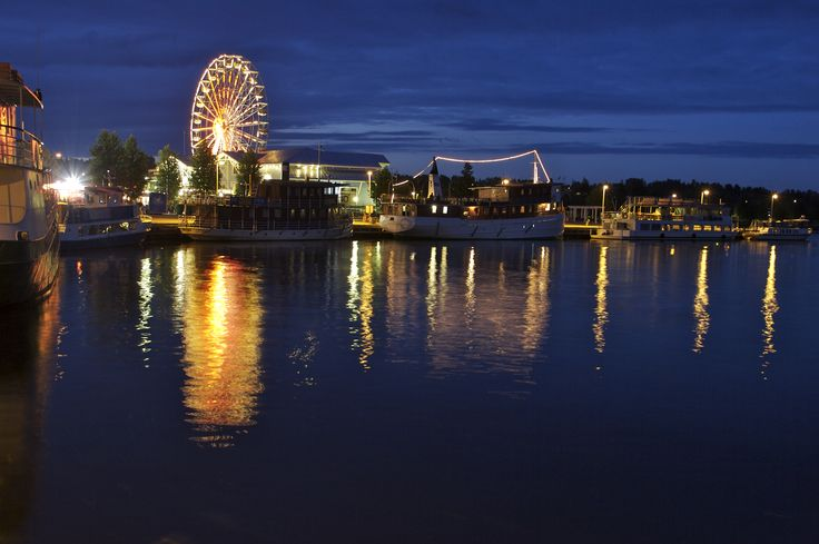Kuopio Harbour at night.