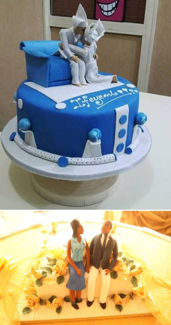 nigerian traditional #weddingcakes. See more on Wedding Feferity here - http://www.weddingfeferity.com/traditional-wedding-cakes-pictures-in-nigeria/
