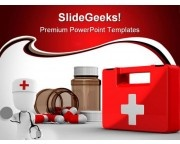 First Aid Kit Medical PowerPoint Templates And PowerPoint Backgrounds 0211