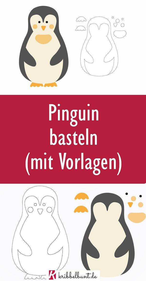 Pinguin Basteln Mit Kindern Basteln Mit Kindern Im Winter In 2020 Basteln Mit Kindern Winter Basteln Basteln Mit Kindern