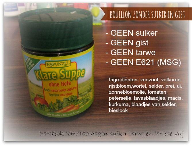 Groentenbouillon zonder suiker, tarwe of gist