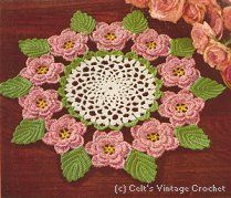 The Rose Doily    I've made this before - it is really fun to work up