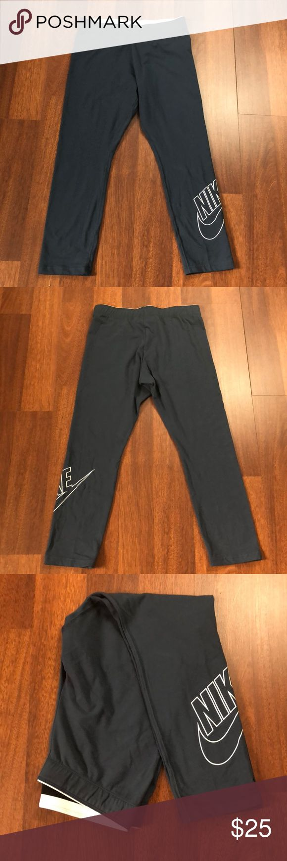 NWT Nike Capri size Medium NWT Nike Capri workout pants in a teal color. They are a size medium. Nike Pants Capris