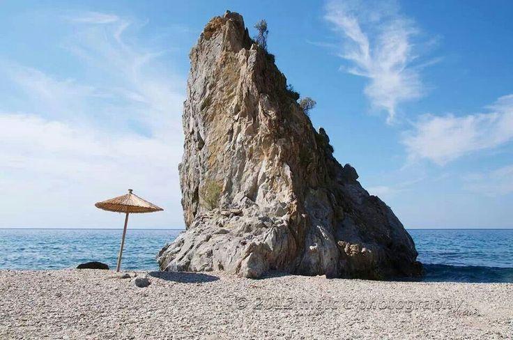Melinda beach in Mytilini island (Lesvos)