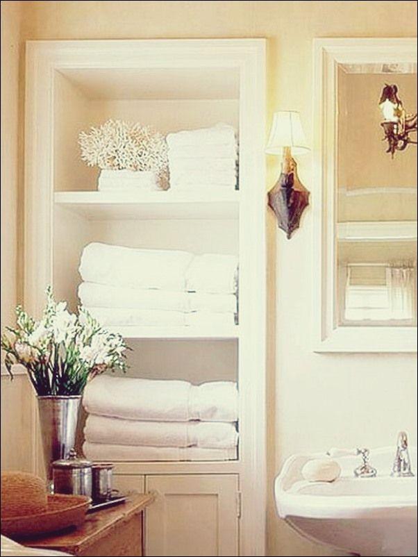 Handtuch Aufbewahrung 24 Ideen Fur Ein Badezimmer Bad Deko Badezimmer Dekor Bad Deko Aufbewahrung Handtucher