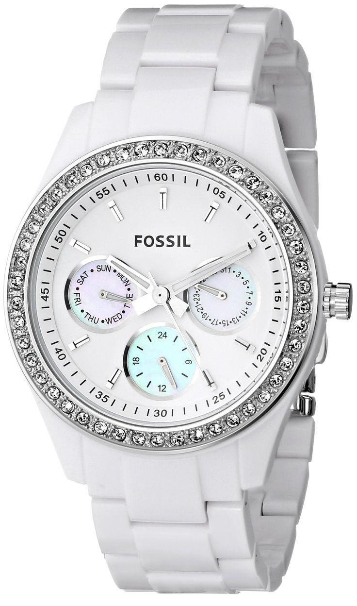 Amazon.com: Fossil Stella White Dial Women's Quartz Watch - ES1967: Fossil: Clothing