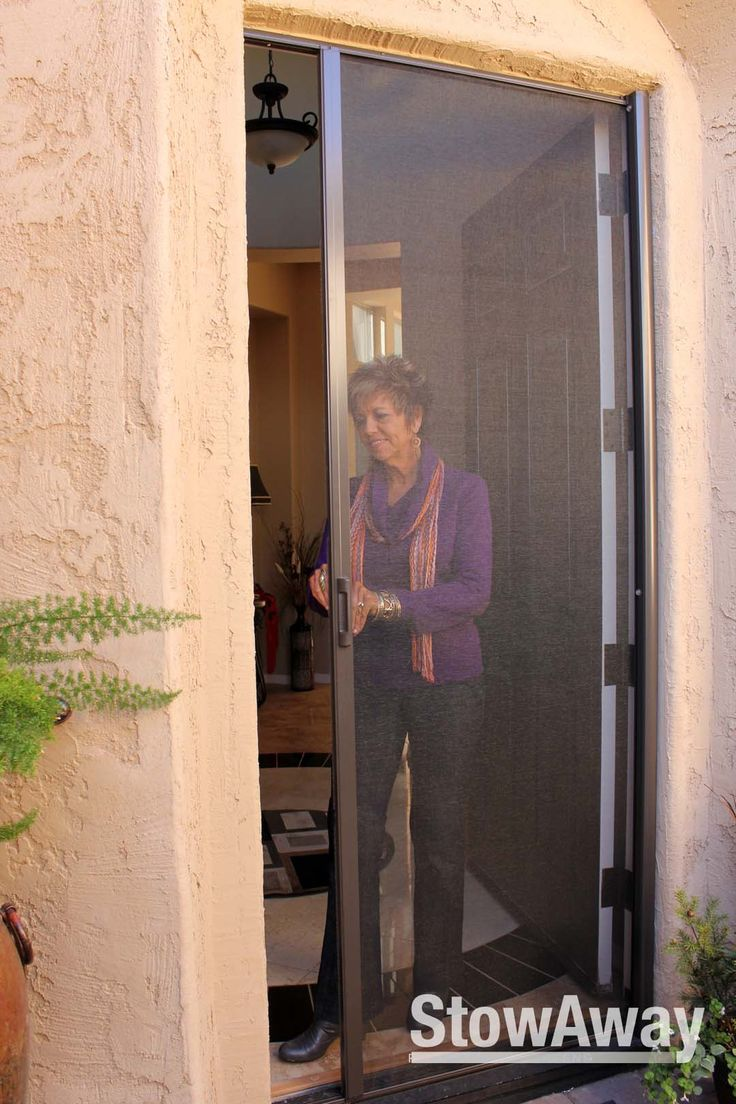 Retractable screens for your door to keep the bugs out and let the breezes in. Add this retractable screen door to your single entry door or French doors