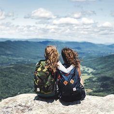 Taking in a great view with a friend.