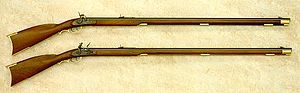 The American Long Rifle was a major advance in gun technology so perfect it remained unchanged for almost 150 years. Developed in Pennsylvania in 1620. Unlike the prolific musket of the time, the barrel had spirals that spun the bullet providing accuracy still unsurpassed in standard rifles today. But unlike the musket, the rifle was slow to load - 1 shot to the minute - compared to 5 shots to the minute for the musket. The rifle was a work of art & craftsmanship still used today in…