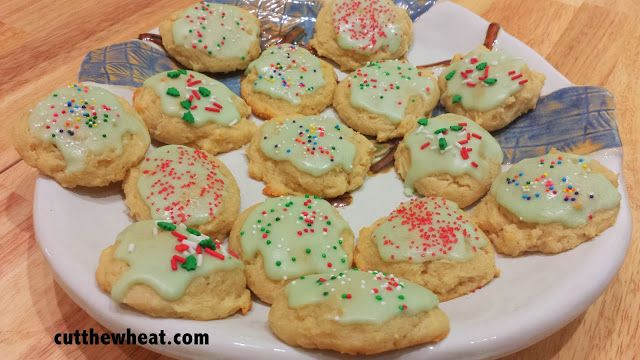 Cut the Wheat, Ditch the Sugar: Sour Cream Drop Cookies with Icing: Sugar Free, Grain Free, Low Carb, Gluten Free (and a Christmas story!)