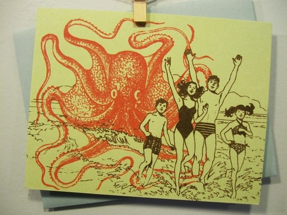 Octopus Beach Party! I have this as a t-shirt. :)