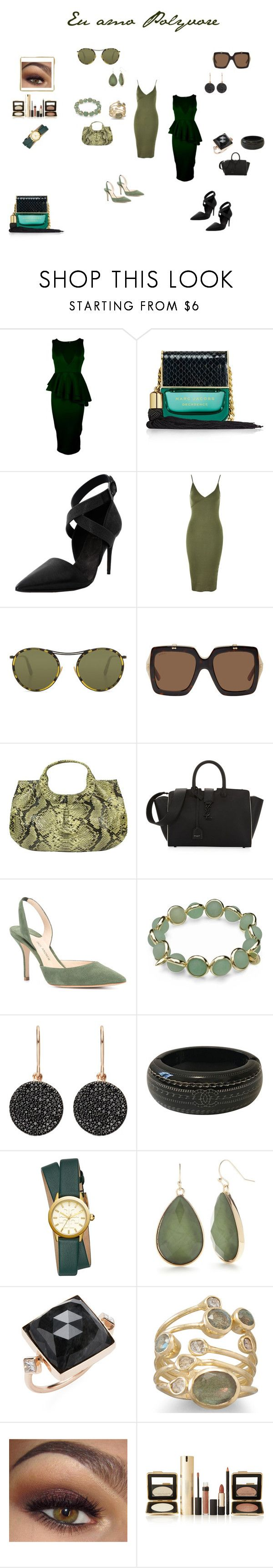 """""""Trabalho e jantarzinho!"""" by madamadah on Polyvore featuring moda, Boohoo, Marc Jacobs, Brunello Cucinelli, Topshop, Oliver Peoples, Gucci, Yves Saint Laurent, Paul Andrew e Maggy London"""