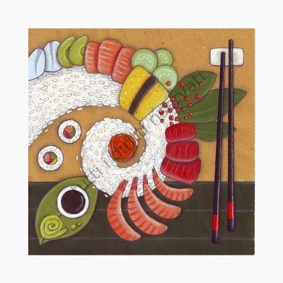 sushi kit, by cinzia mazzoni aka Rossocoralloart
