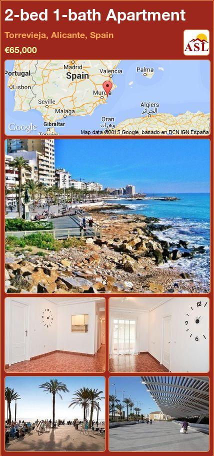 2-bed 1-bath Apartment in Torrevieja, Alicante, Spain ►€65,000 #PropertyForSaleInSpain