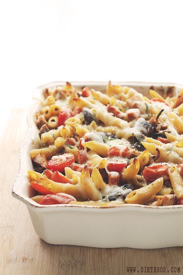 Chicken and vegetables pasta bake