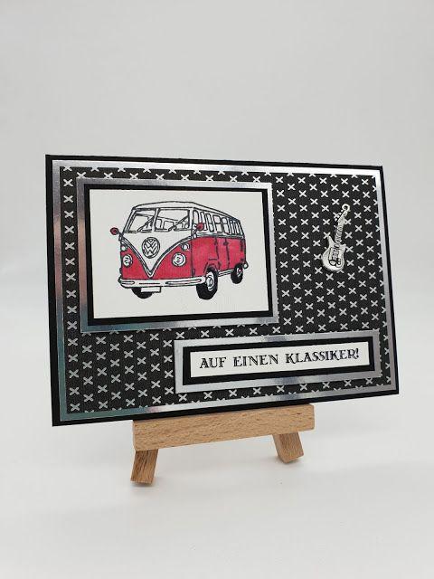 Oldtimer Vw Bulli Karte Mannerkarte Auto Autobus Kastenwagen