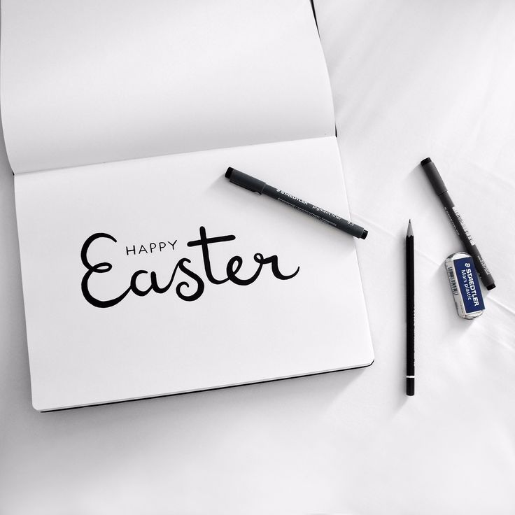 Easter hand lettering // by Jacqui Humble