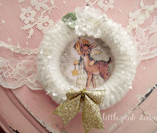 vintage looking ornament made with old curtain ring