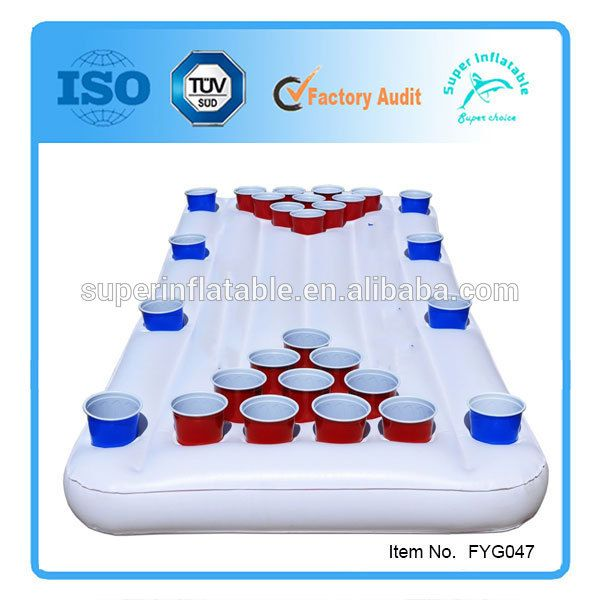 Pool Lounge Beer Pong Game Table Inflatable Floating
