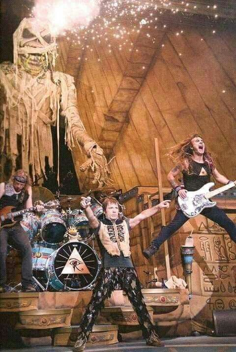 On stage (Iron Maiden)