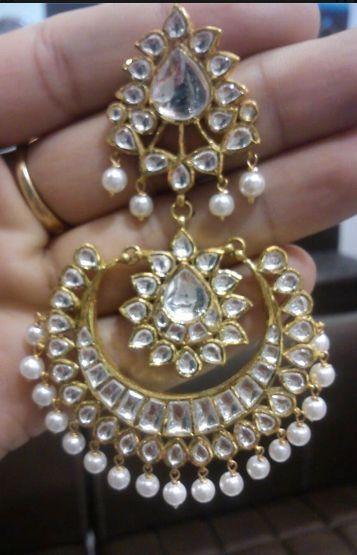 Polki Earrings:
