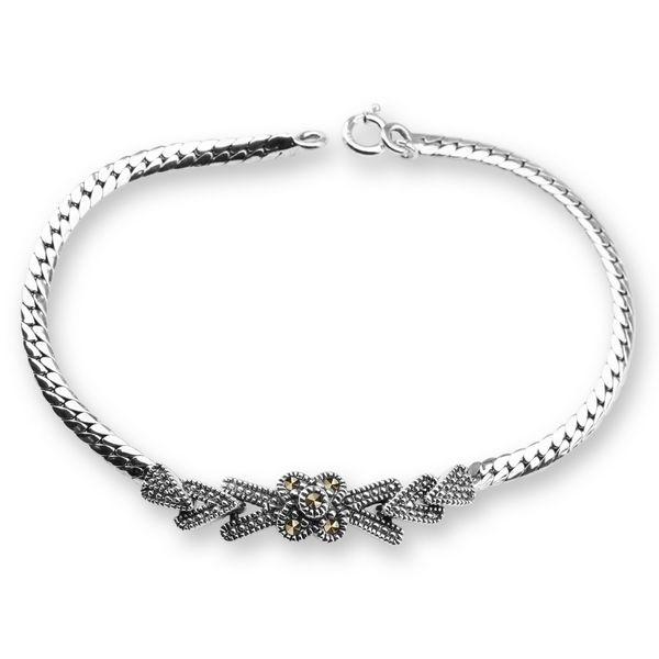 Srebrna bransoletka z markazytami - Biżuteria srebrna dla każdego tania w sklepie internetowym Silvea