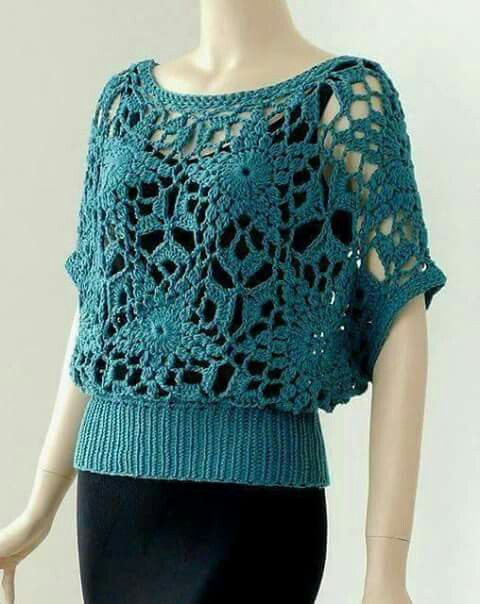 ... on Pinterest Crochet tunic, Crochet tank tops and Crochet vests