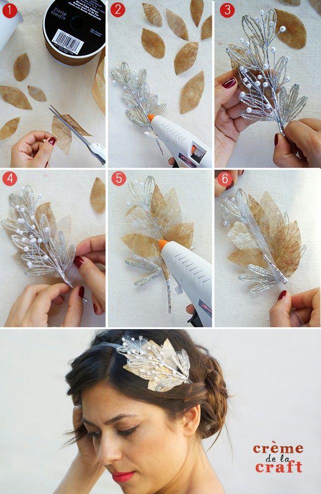 Cómo hacer una diadema tocado para ocasiones especiales  #diy #handmade #tocado #moda