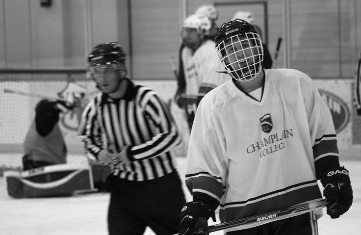 Champlain College Hockey. Photo by Kayla Hedman. Jan. 2012.