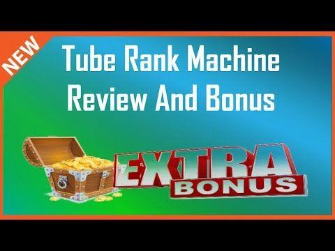 Tube Rank Machine Review   Demo + Tube Rank Machine Bonus - YouTube