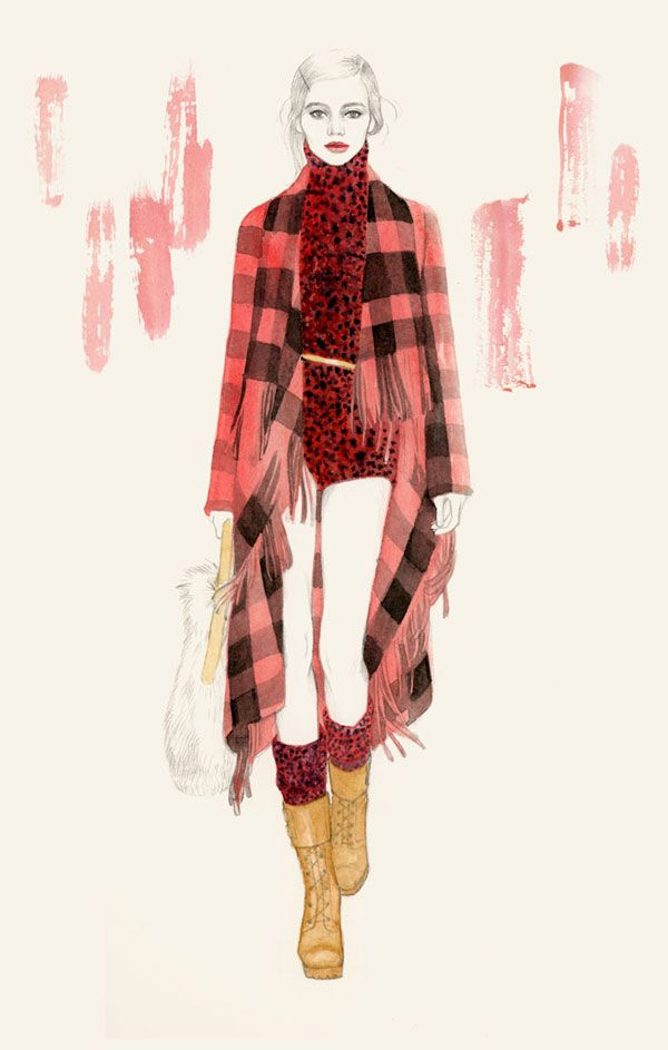 Illustration by Teri Chung - NYFW 2012 - material rendering