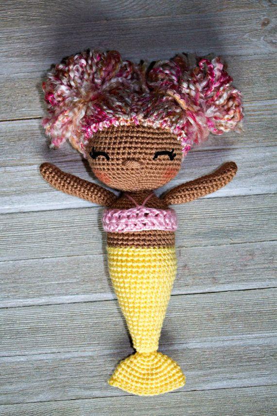 Crochet Mermaid Pattern| Mermaid Doll| Crochet Doll Pattern| Amigurumi Doll Pattern| Mermaid| Girls Gift