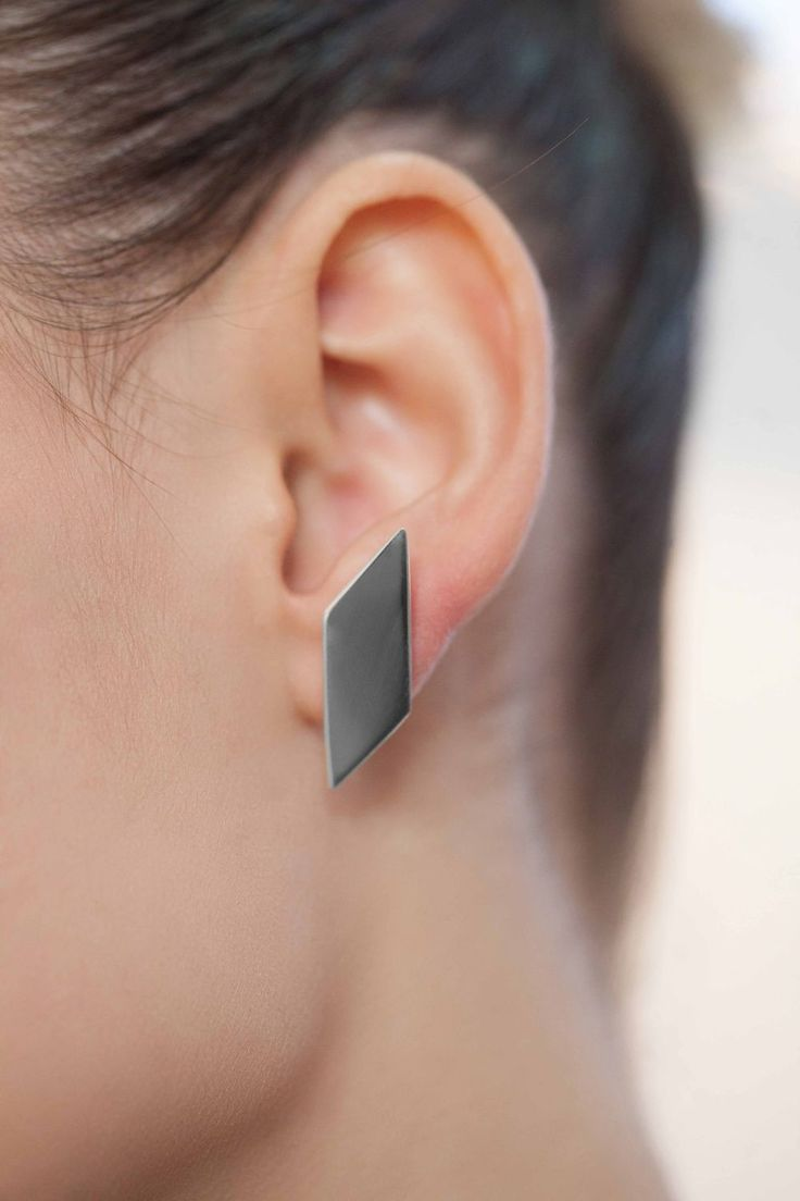 Parallelogram earring via LIFE IN MONO. Click on the image to see more!