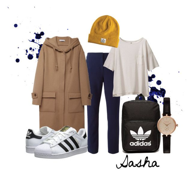 Sasha by ninjasofia on Polyvore featuring Uniqlo, J.W. Anderson, Diane Von Furstenberg, adidas Originals and Barbour
