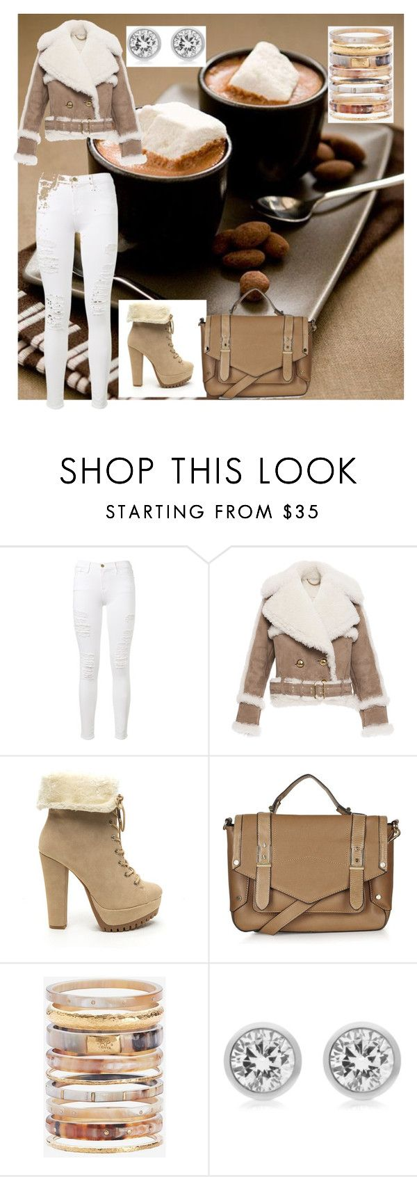 """""""Coffee date outfit"""" by angieinspires ❤ liked on Polyvore featuring Frame Denim, Burberry, Topshop, Ashley Pittman, Michael Kors, ootd and angieinspires"""